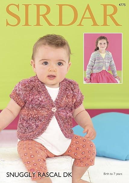 Sirdar 4775 Knitting Pattern Baby Girls Bolero Cardigans In Sirdar