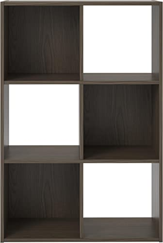 Ameriwood Basics Collection Tally 6 Cube Bookcase