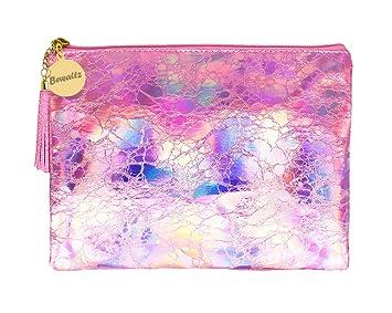 9f384959c0 Amazon.com   Bewaltz Holographic Makeup Pouch Handbag Multifunctional  Clutch Bag Makeup Bag Cosmetic Bag Makeup Bag Toiletry Travel Bag Handy  Large Protable ...
