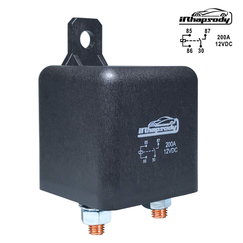 12 V DC 200 Amp 4 Pin Heavy Duty Relay/Split Charge Relay - 4 Terminal Relay - Coil Power 1.8 W 71bMyrz3-5L