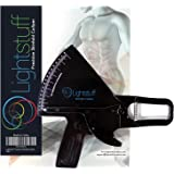 Lightstuff Precision Skinfold Caliper - Easy, Reliable Tool for Measuring Accurate Body Fat Level - Quick Start Guide, Detailed Booklet