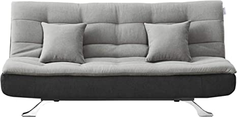 Amazon Com Scarlet Full Tufted Back Convertible Sofa With Grey Black Color Simple And Stylish Design Are Perfectly For Apartment Condo Studio Living Room Small Spare Kitchen Dining