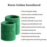 Beace Sweatband Sports Wristband for Men and