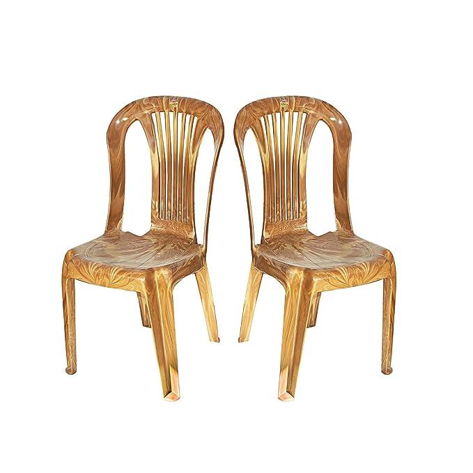 Cello Sleek Senator Four Seater Dining Table Set Brown Amazon In Home Kitchen
