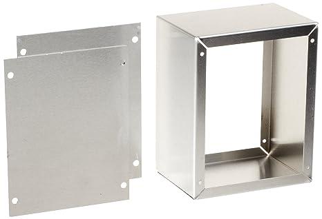 Natural Finish 5 Width x 4 Height x 3 Depth BUD Industries AU-1028 Aluminum Utility Cabinet 5 Width x 4 Height x 3 Depth