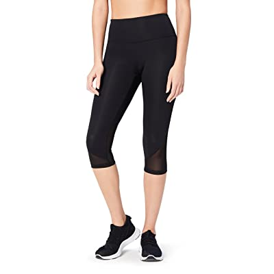 "Brand - Core 10 Women's (XS-3X) 'Race Day' High Waist Run Mesh Capri Legging - 19"": Clothing"