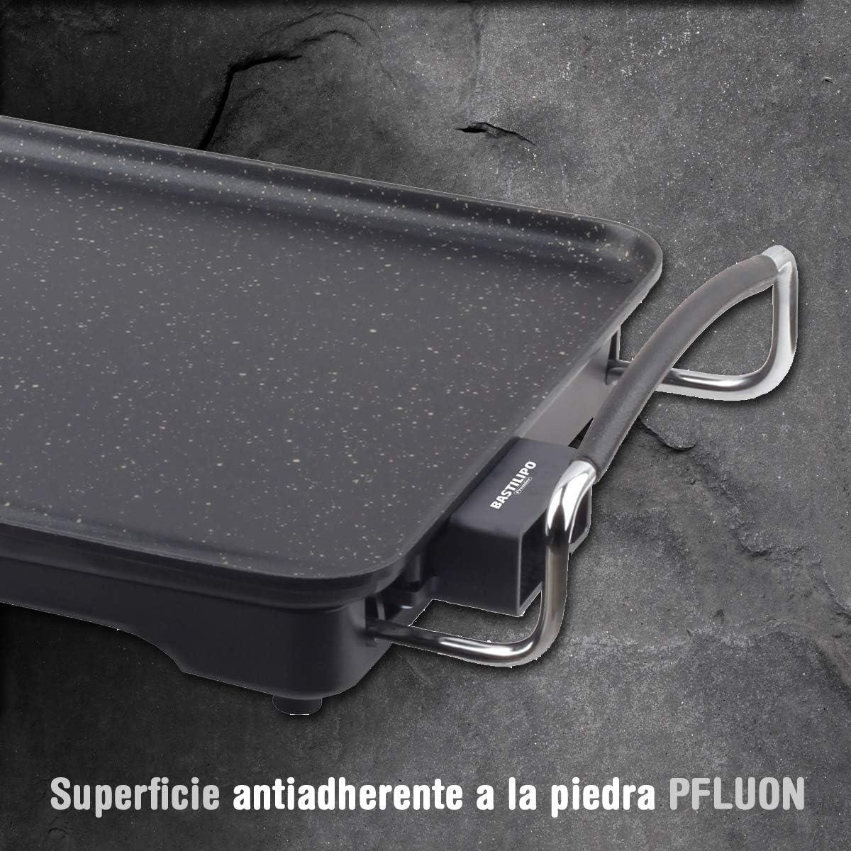 1900/W Bastilipo Titanio Pro Chef asse da arrosti Alluminio Nero Plastica