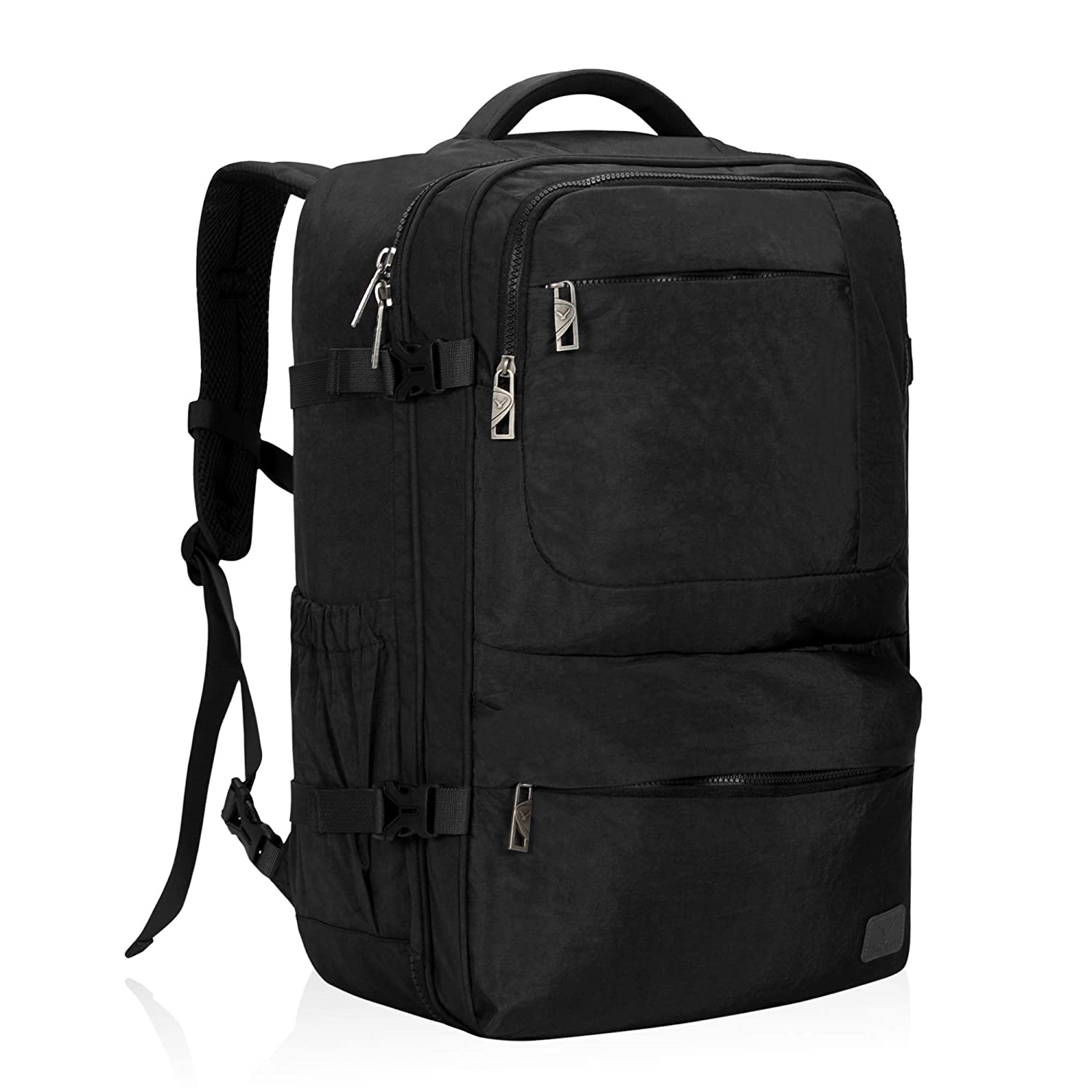 e685daaa0ac Amazon.com   Hynes Eagle 44L Carry on Backpack Flight Approved Compression  Travel Pack Cabin Bag, Black-2018   Casual Daypacks