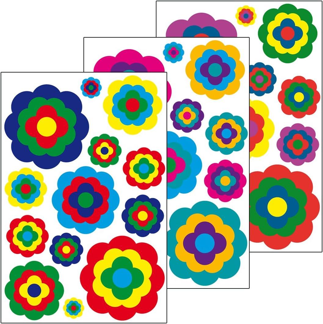 FABRIKSTORES GmbH Sticker Mural Motif Fleurs 2 Autocollants, 39, 3 Feuilles Format A4: Amazon.es: Hogar