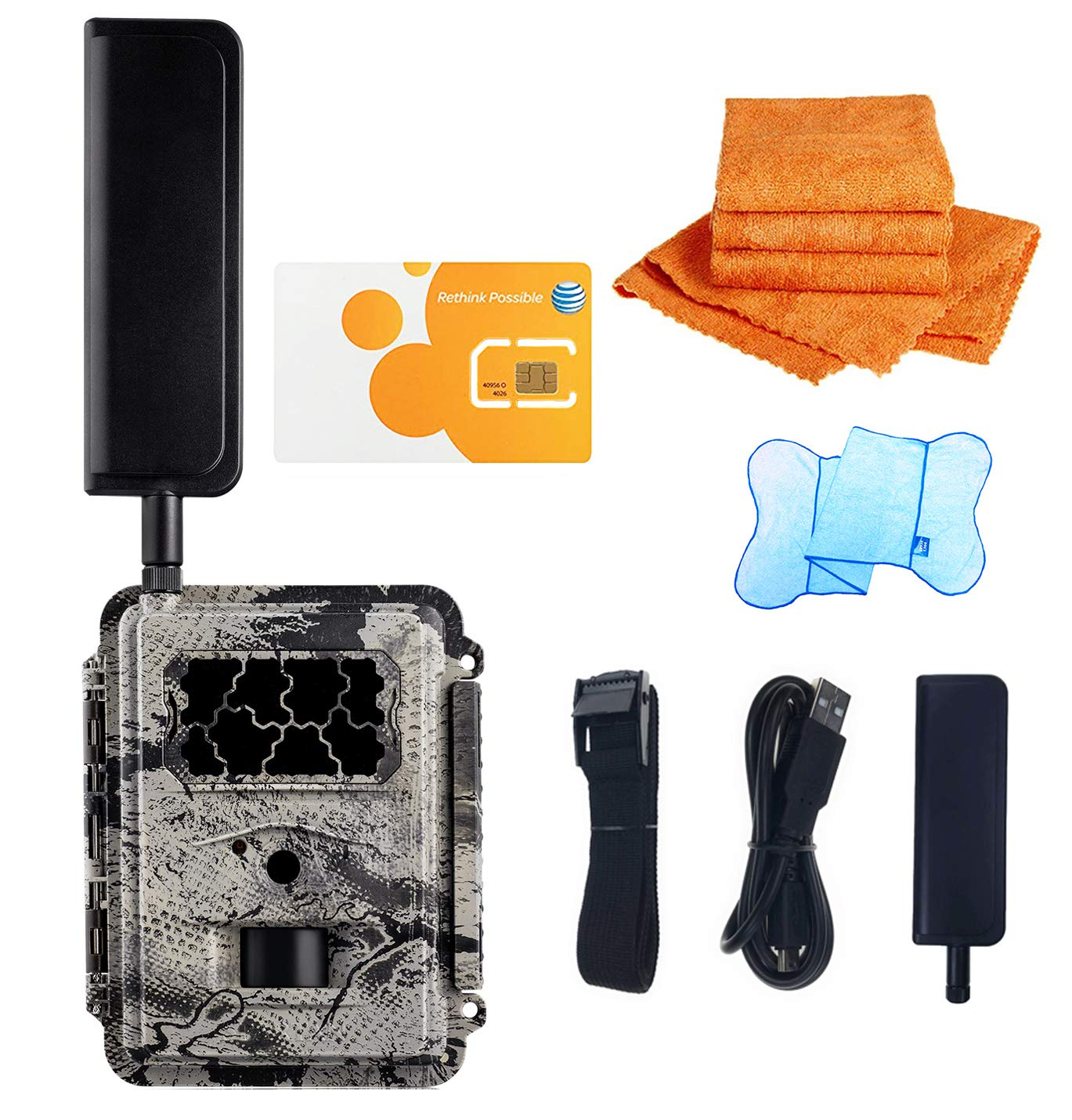 SPARTAN HD GoCam (4G AT&T Version, Model#GC-A4Gb, Blackout Infrared) 4G Wireless UTowel Bundle Deal Bundled with UTowels Edgeless Microfiber Towels by SPARTAN