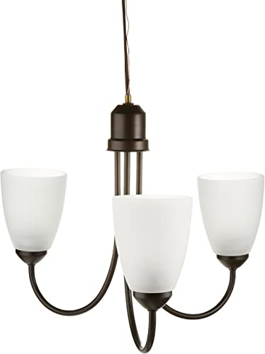 Progress Lighting P4440-20 Transitional Three Light Chandelier from Gather Collection Dark Finish