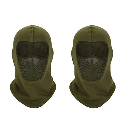 TAGVO Warm Balaclava Full Face Mask Cover with Breathable Mesh Silicone  Panel 4176a209e6d
