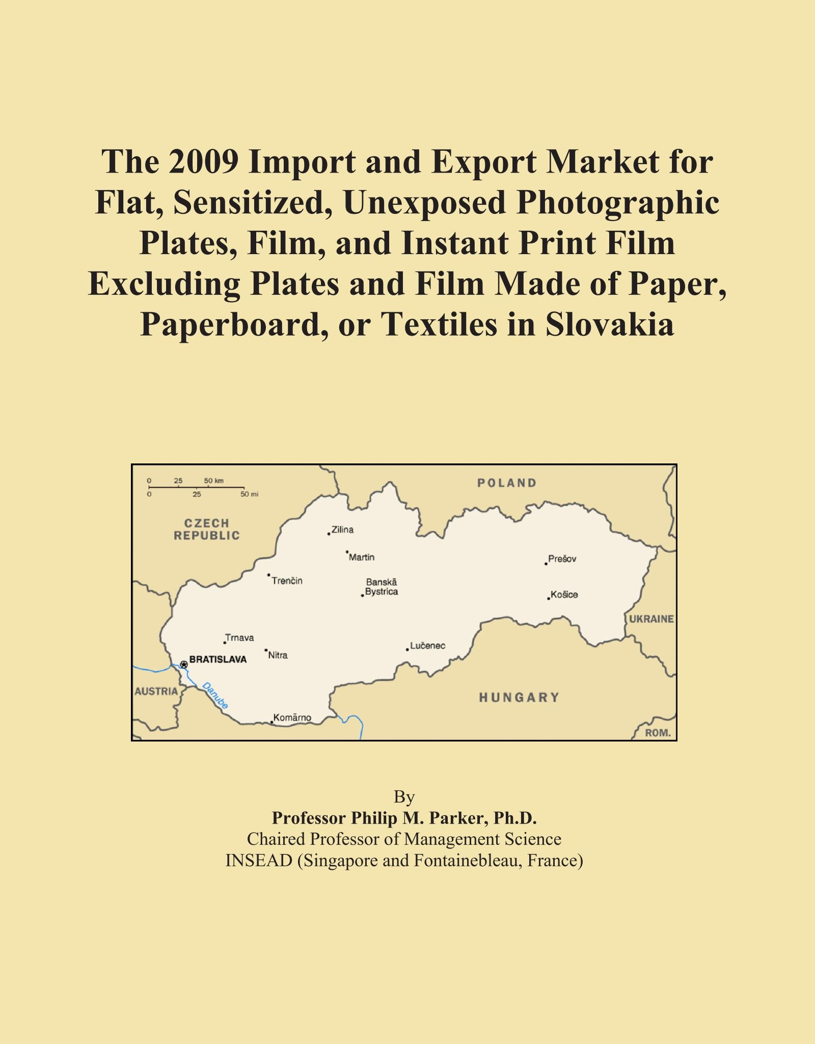 The 2009 Import and Export Market for Flat, Sensitized, Unexposed Photographic Plates, Film, and Instant Print Film Excluding Plates and Film Made of Paper, Paperboard, or Textiles in Slovakia pdf