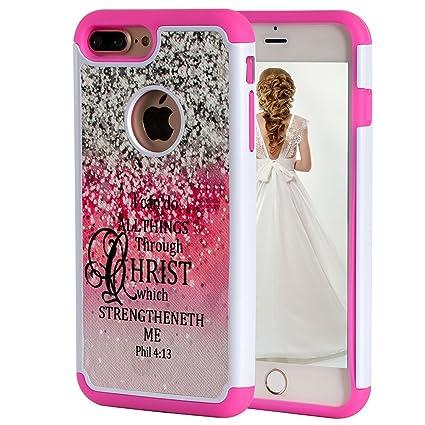 Amazon.com: Carcasa para iPhone 8 Plus, versión de Biblia ...