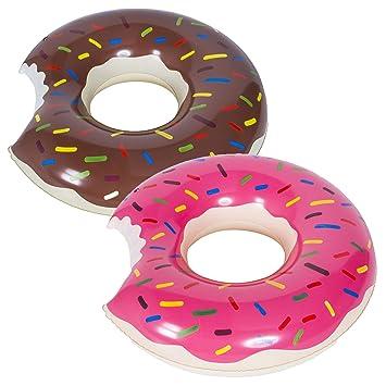 WENTS Donut Anillo de natación Inflable Flotador Gigante Buñuelo Piscina, Verano natación Anillos, Agua Pool Float Juguetes inflables para Adultos y ...
