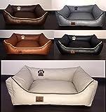 Luxus Hundebett Hundekissen Kunst Leder Hundebett Hundesofa Katzenbett Hundekorb Dollaro S M L XL XXL XXXL