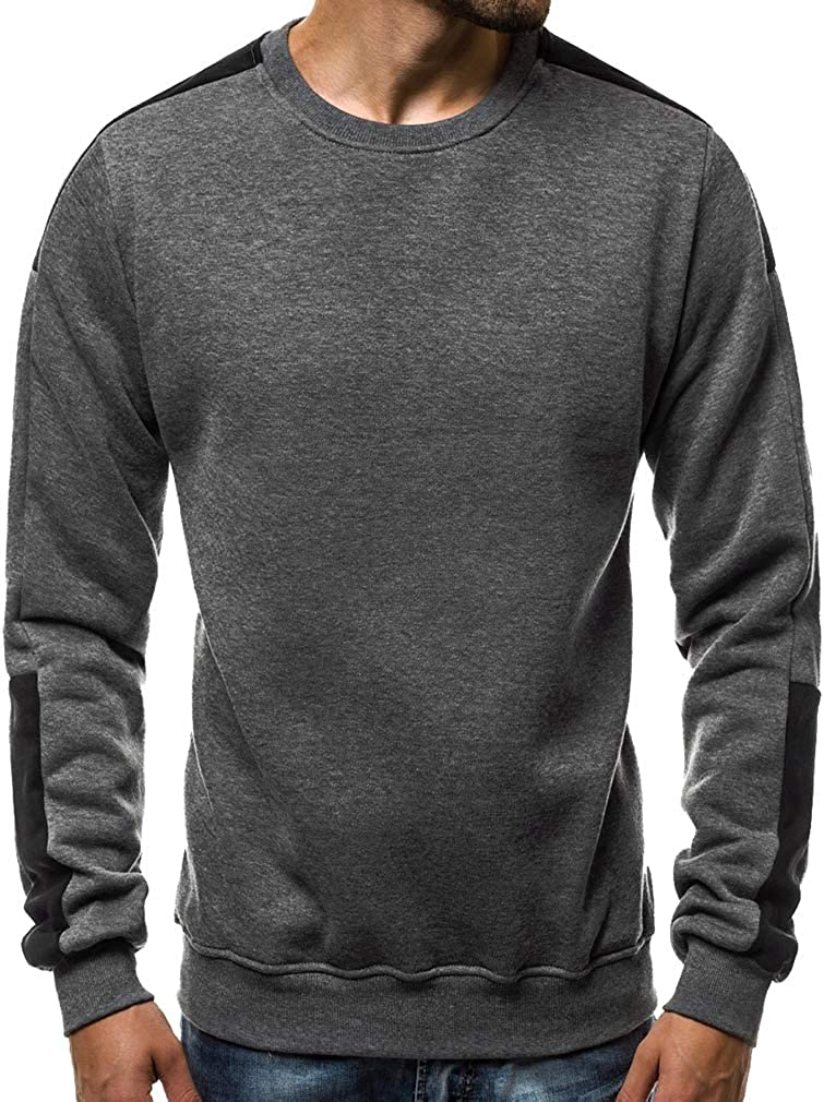 Hommes Casual Sweat-Shirts Pull T-Shirts Hiver Tops /à Manches Longues M-3XL