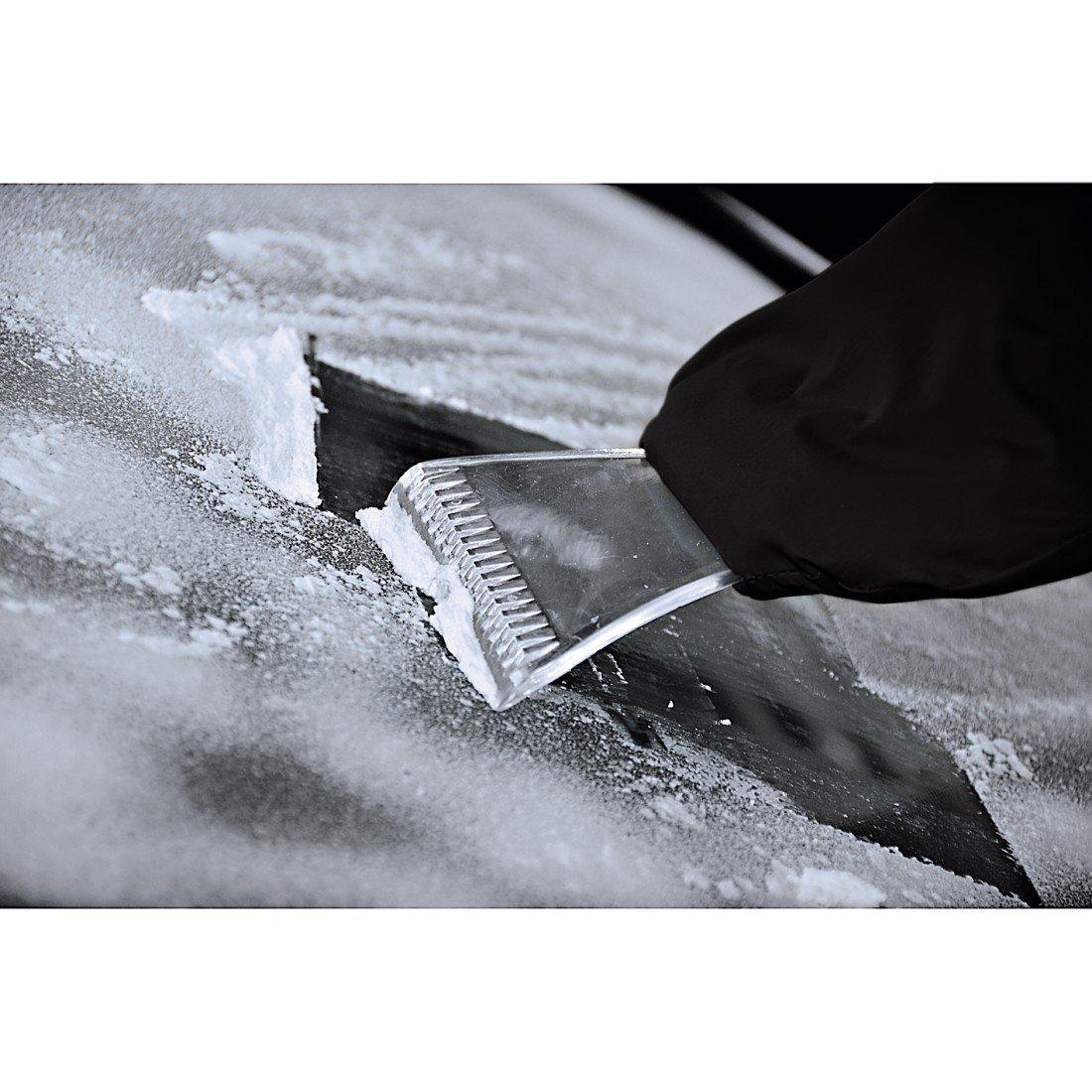 Grobach Rasqueta de hielo con guante incorporado no se te volver/án a congelar los dedos mientras eliminas el hielo de las ventanillas de tu autom/óvil
