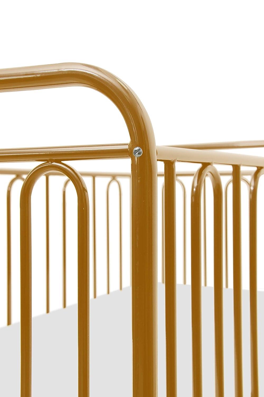 Kinderbett Gitterbett Kinderbett aus Metall Polini Vintage 110 gold