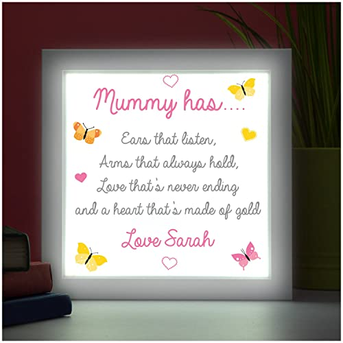 My Mummy Has PERSONALISED POEM Mothers Day Gifts Xmas Birthdays Mum ...