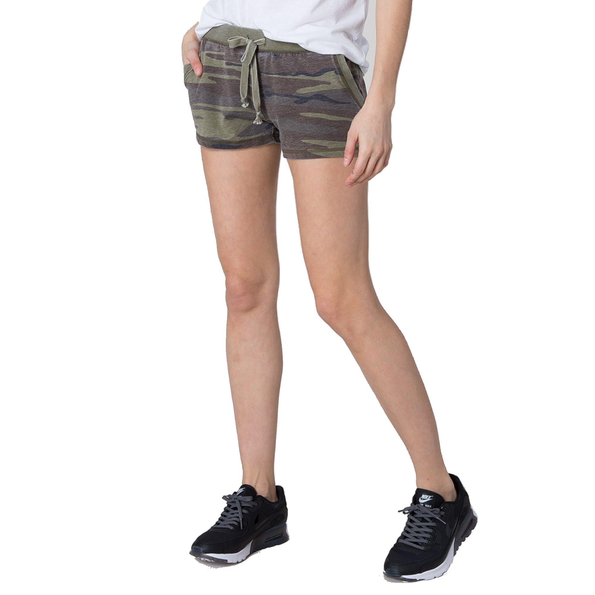 Z SUPPLY Women's The Camo Short, Camo Green, Large