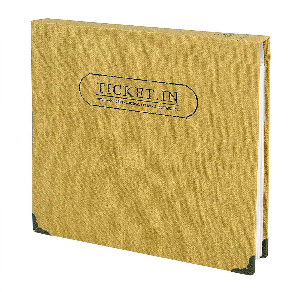FaCraft Ticket Stud Organizer Album Book, Holds 120 3x6' Tickets (Coffee) Holds 120 3x6 Tickets (Coffee)