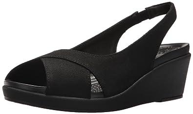 8c9e1dc86 Crocs Women s Leigh Ann Slingback Wedge Sandal