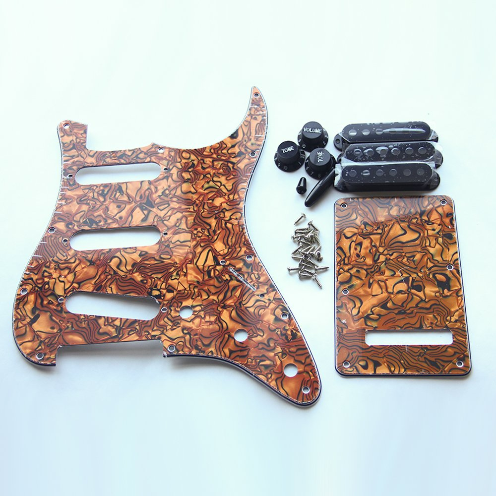 Tiger Stripe Guitar Pickguard Backplate Trem Tremolo Cavity Pickup Cover For US Standard Strat