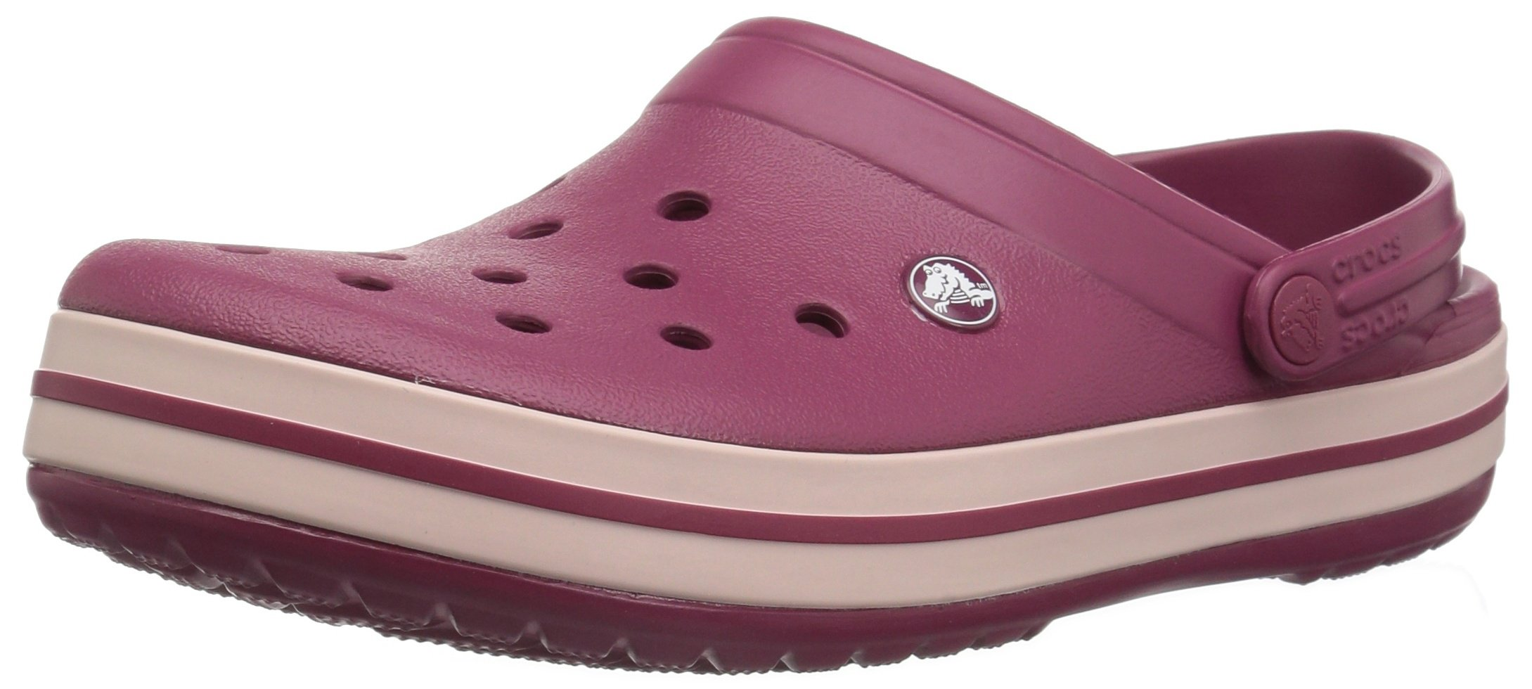 Crocs Crocband Clog, Pomegranate/Rose Dust, 7 US Men / 9 US Women