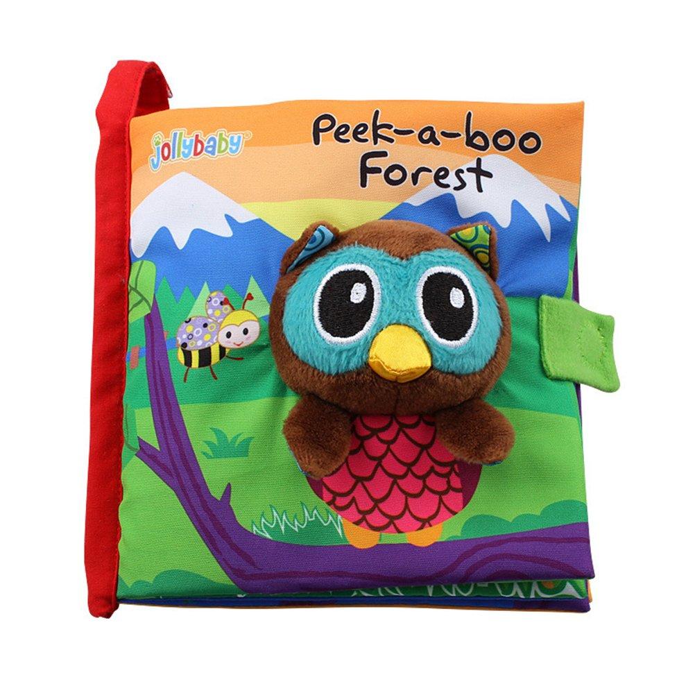b/úho Jollybaby Animal Cloth Libro Beb/é Tela Libros Educativo Infantil Aprendiendo Juguete