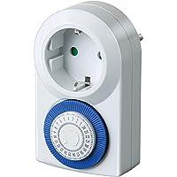 Brennenstuhl Timer MMZ 20, mechanische timer stopcontact (dag-timer, met verhoogde aanraakbeveiliging), wit