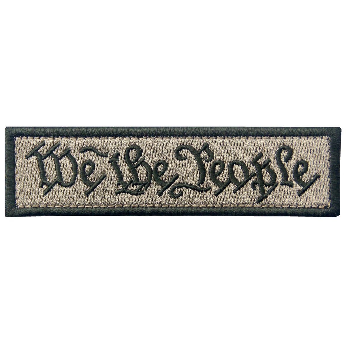 We The People Tactical Embroidered Morale Applique Fastener Hook&Loop Patch - Black EmbTao