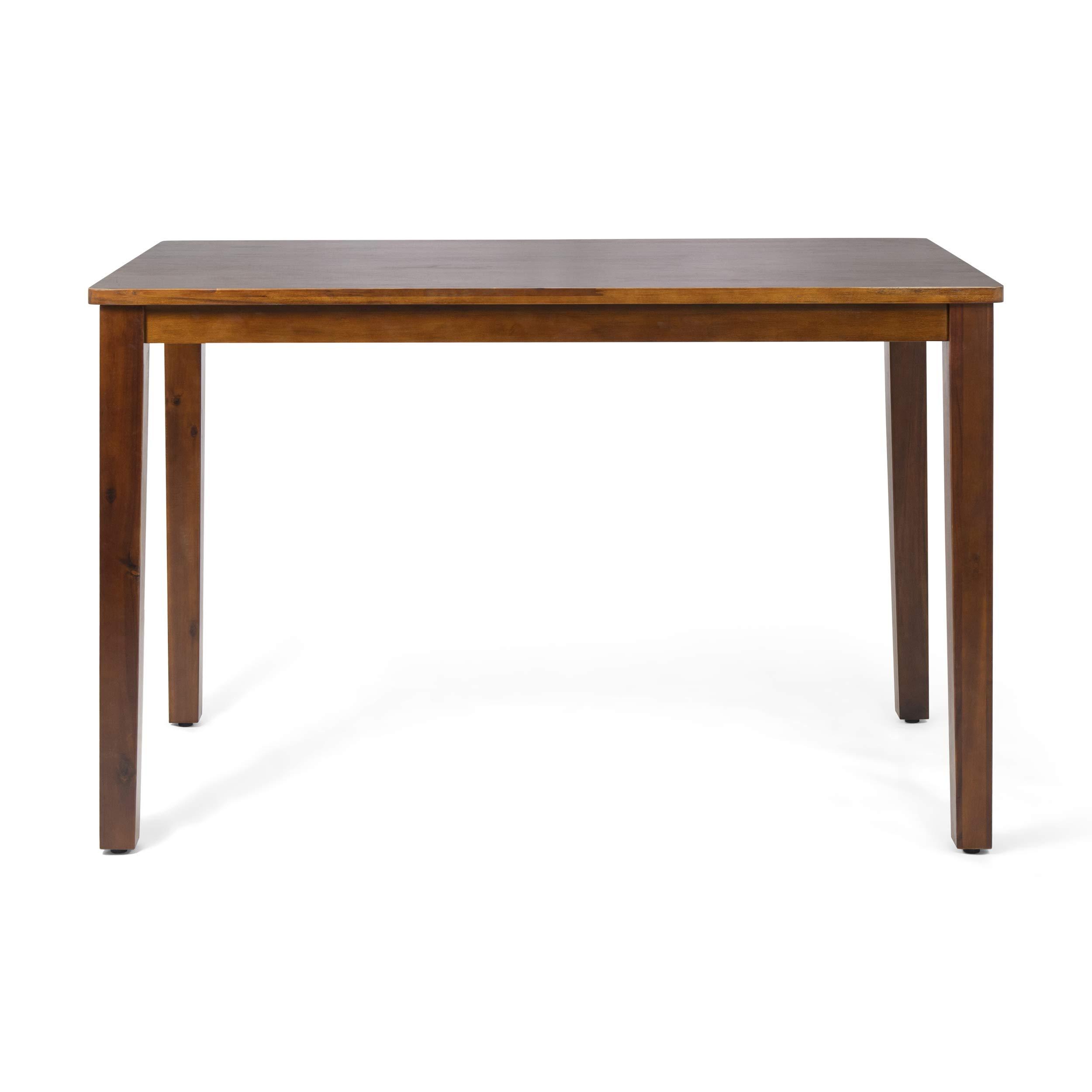 Sandra Modern Acacia Wood Bar Table, Rich Mahogany by Great Deal Furniture