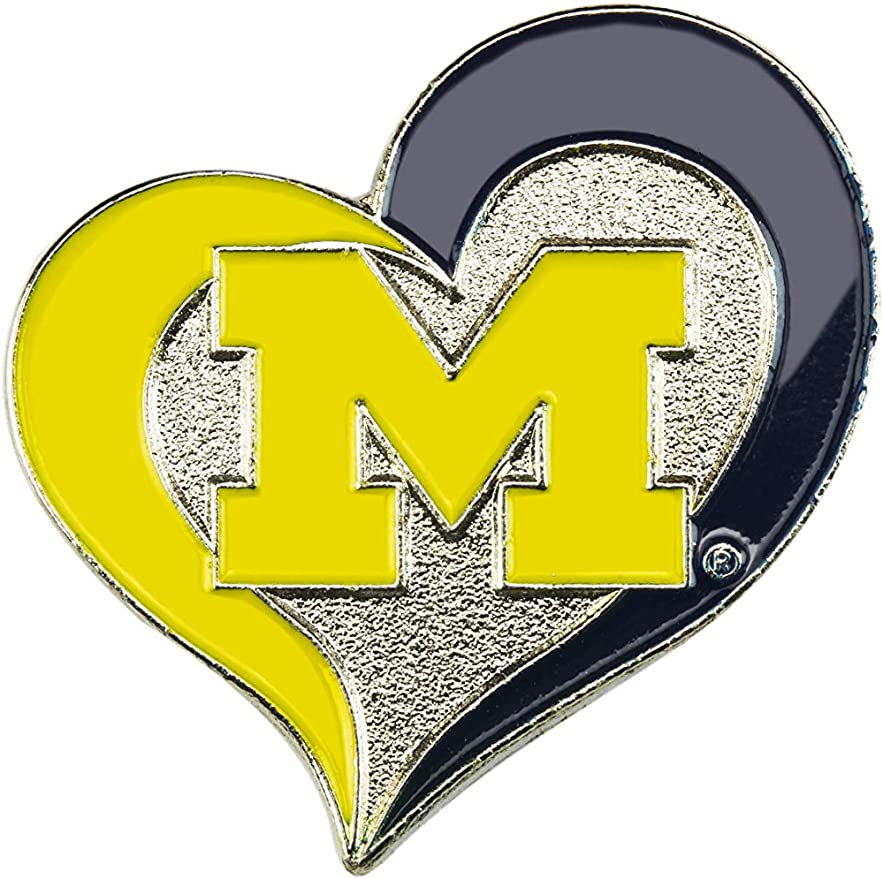 aminco NCAA Unisex-Adult Swirl Heart Pin