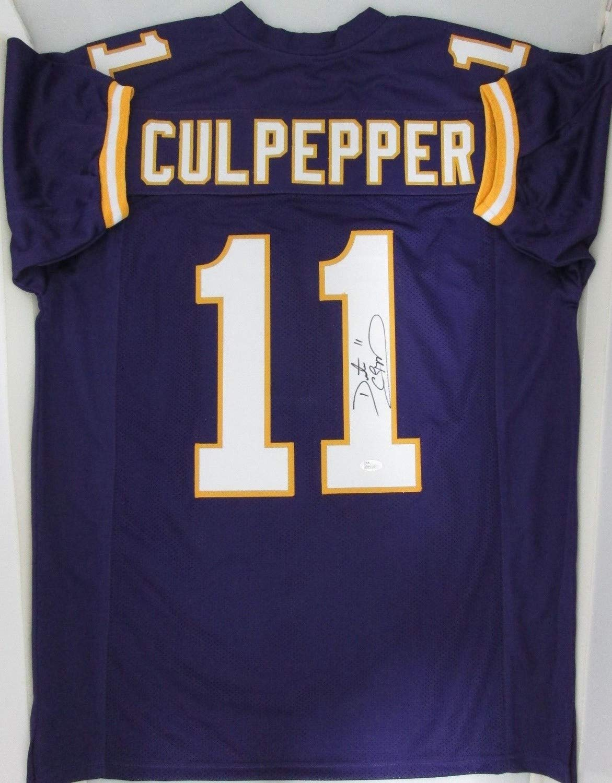 big sale 57804 250a7 Vikings Daunte Culpepper Autographed Blue Jersey Signed - 3 ...