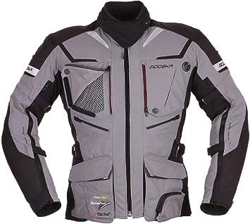 modeka textil Chaqueta Panamericana gris negro impermeable: Amazon.es: Coche y moto