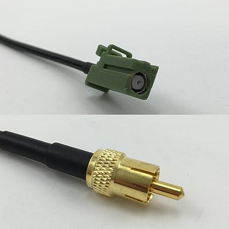 Cable coaxial RG178 Avic Green Pioneer Jack a RCA Macho, 50 Ohm, envío rápido