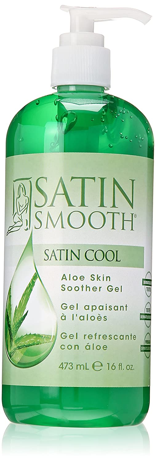 Satin Smooth Satin Cool Aloe Vera Skin Soother Gel, 16 fl oz
