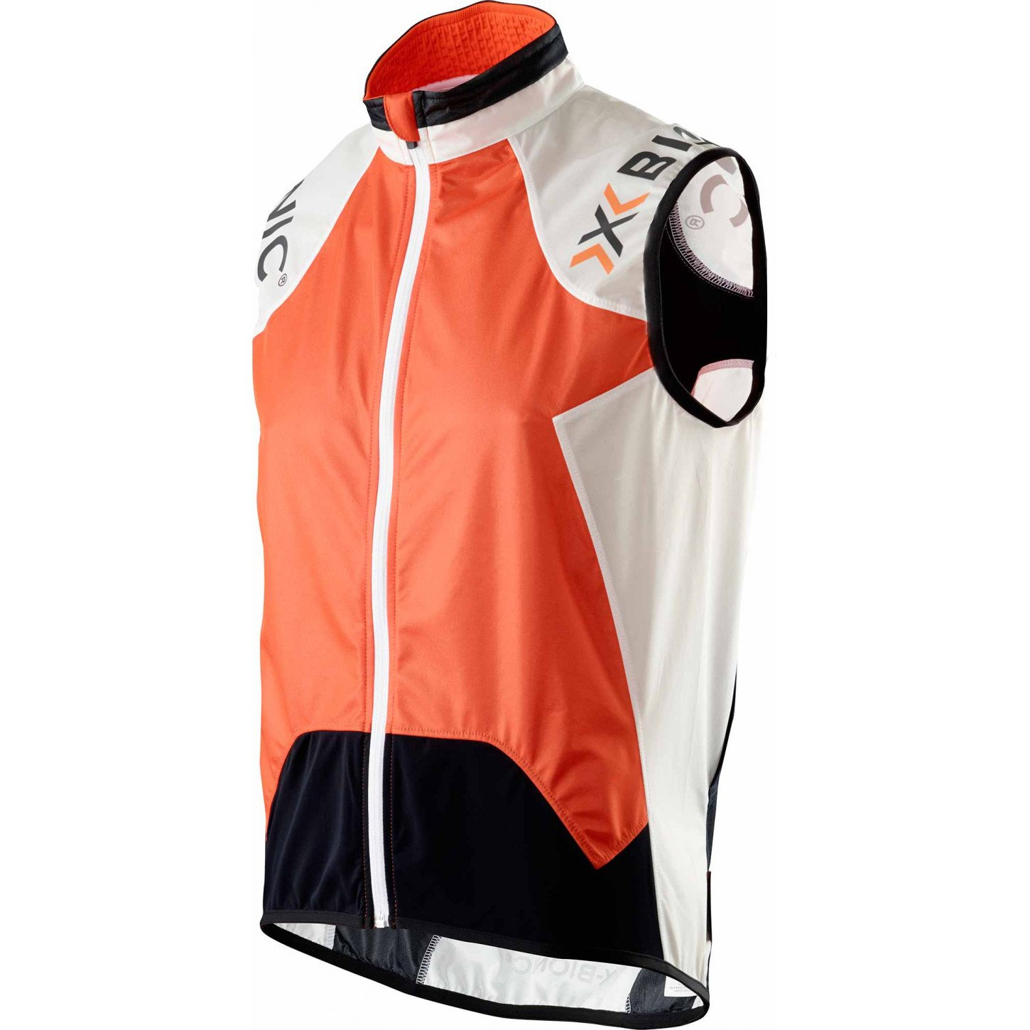 X-Bionic Spherewind Functional Cycling Adult MAN UPD OW Vest Multi-Coloured Orange/White/Black