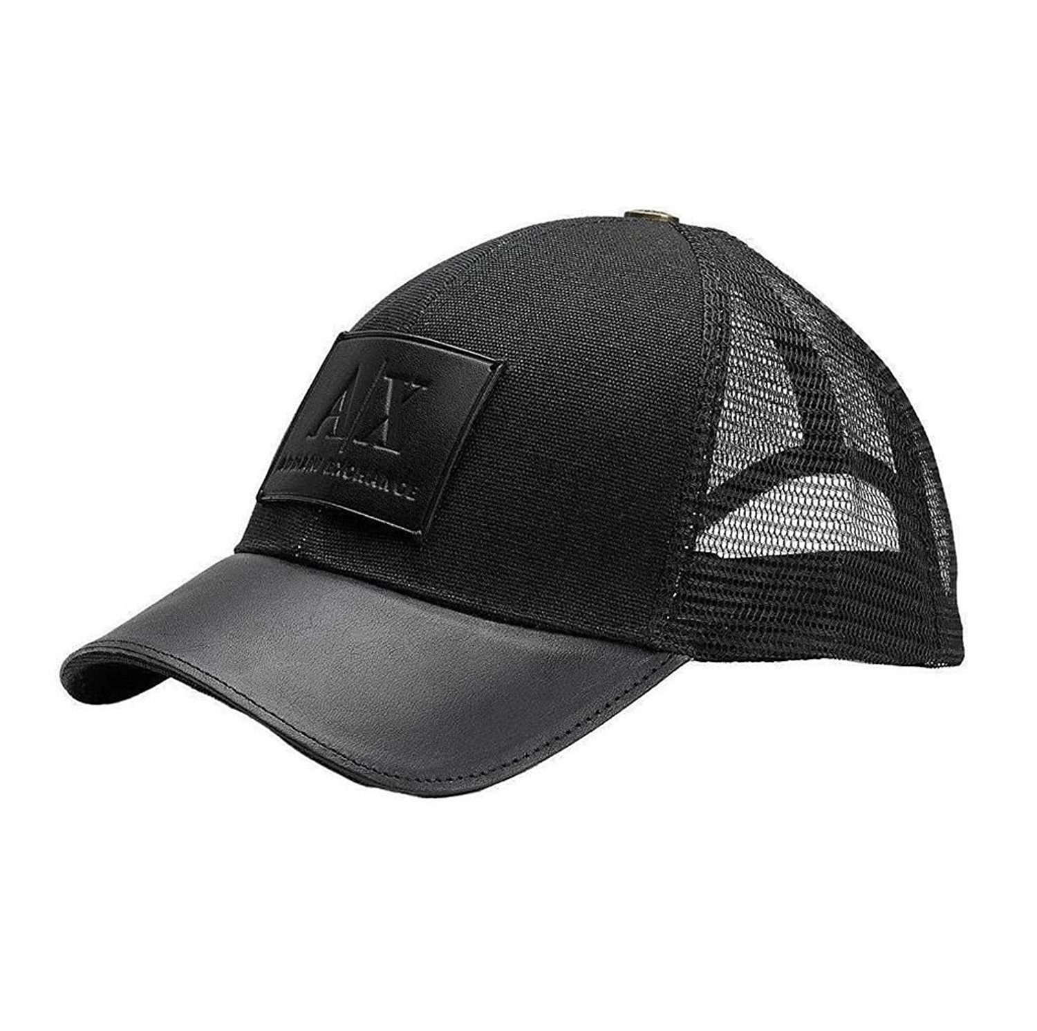 Armani Exchange Brand New with Tags Leather Patch Baseball Hat [並行輸入品]   B075CHFP3C