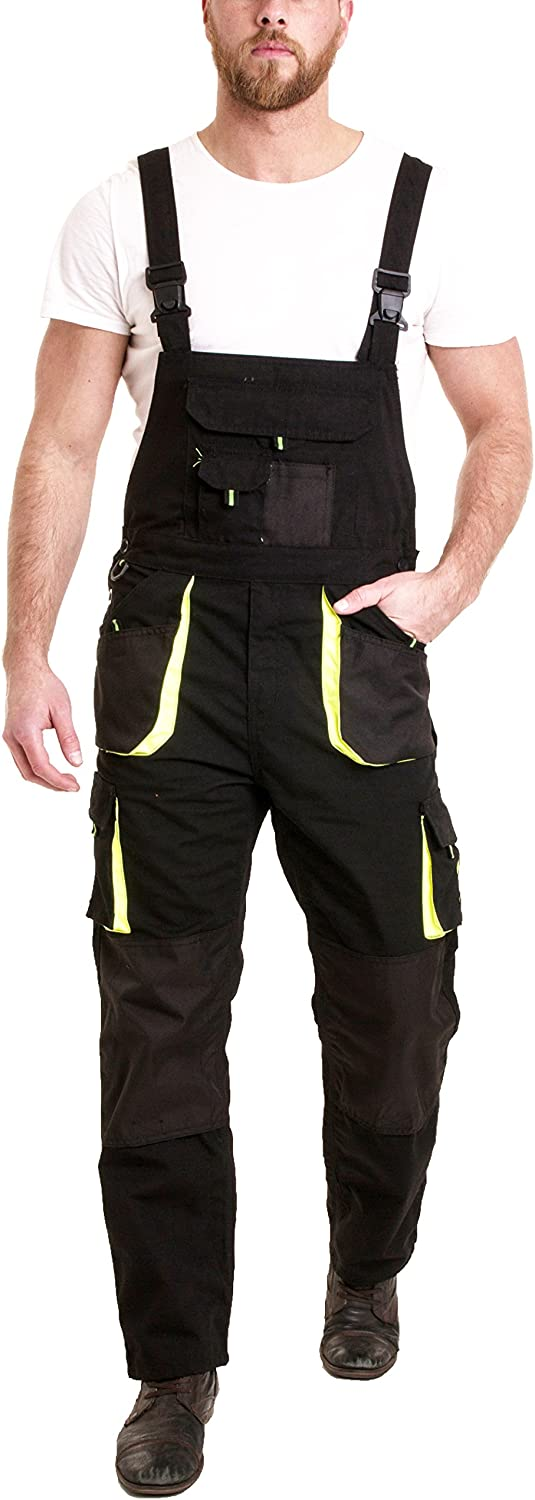 Knee Pad TOP Quality Multipockets,Triple Stitched Seams Bib and Brace Overalls
