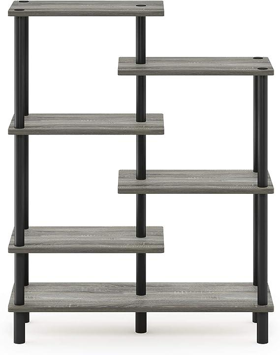 Furinno Deko-Regal mit 4 Ebenen 29.49 x 80 x 100.2 cm Espresso//Schwarz holz
