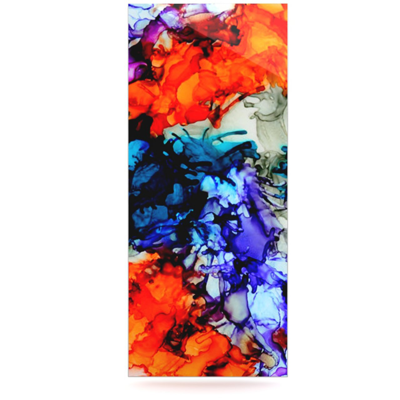 Kess InHouse Claire Day One Love Red Orange Luxe Rectangle Panel 24 x 36