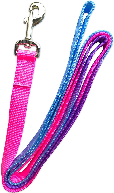 Tigerbox 2 Metre Colourful Magic Cushion Web Flat Horse Lead with Loop Handle Aqua