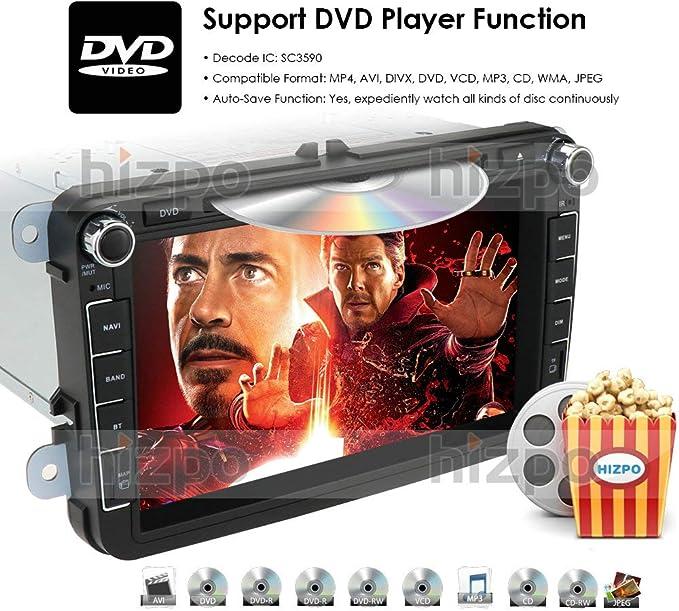 hizpo Android 10 Radio de Coche Reproductor de DVD GPS Can-Bus ...