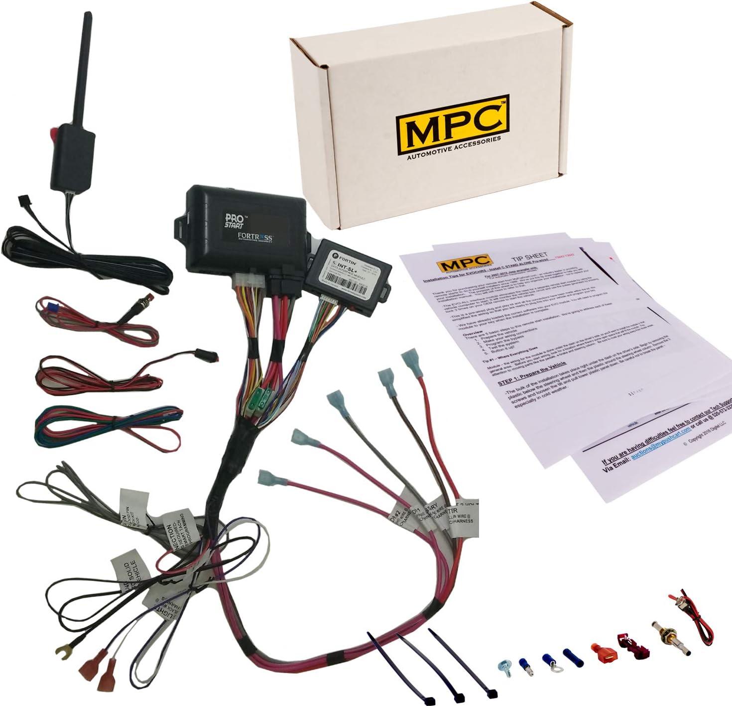 MPC コンプリート2ウェイLCDリモートスタートキット キーレスエントリー付き 2003-2007 GMC Yukon XL 2500用 配線済み ファームウェアプリロード