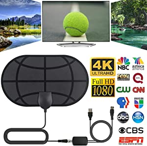 LY1122 980 Mile Range Antenna with Amplifier TV Digital 1080P HD HDTV 4K for Skywire Indoor - with Amplifier