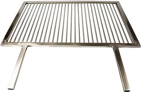 Grill en acier inoxydable avec 2 poignées 60 x 40 cm, V2 A