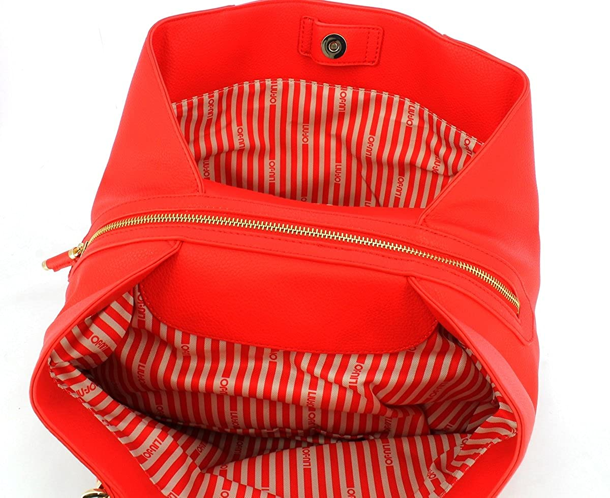 LIU JO NIAGARA M SATCHEL N18123E0037 81662 FLAME RED: Amazon