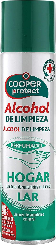 Cooper Protect | Aerosol Perfumado |96% de Alcohol| Limpieza de Superficies| Contenido: 300 ml, Estandar, 300